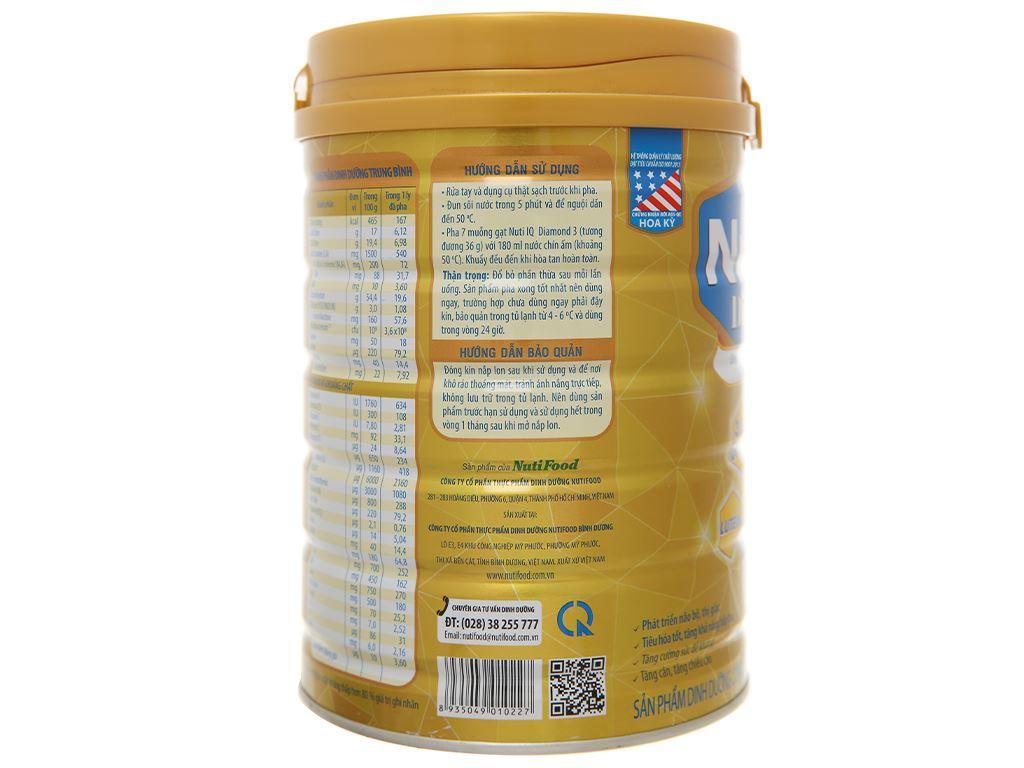 Sản phẩm dinh dưỡng công thức NutiFood Nuti IQ Diamond 3 lon 900g (1 - 2 tuổi) 4