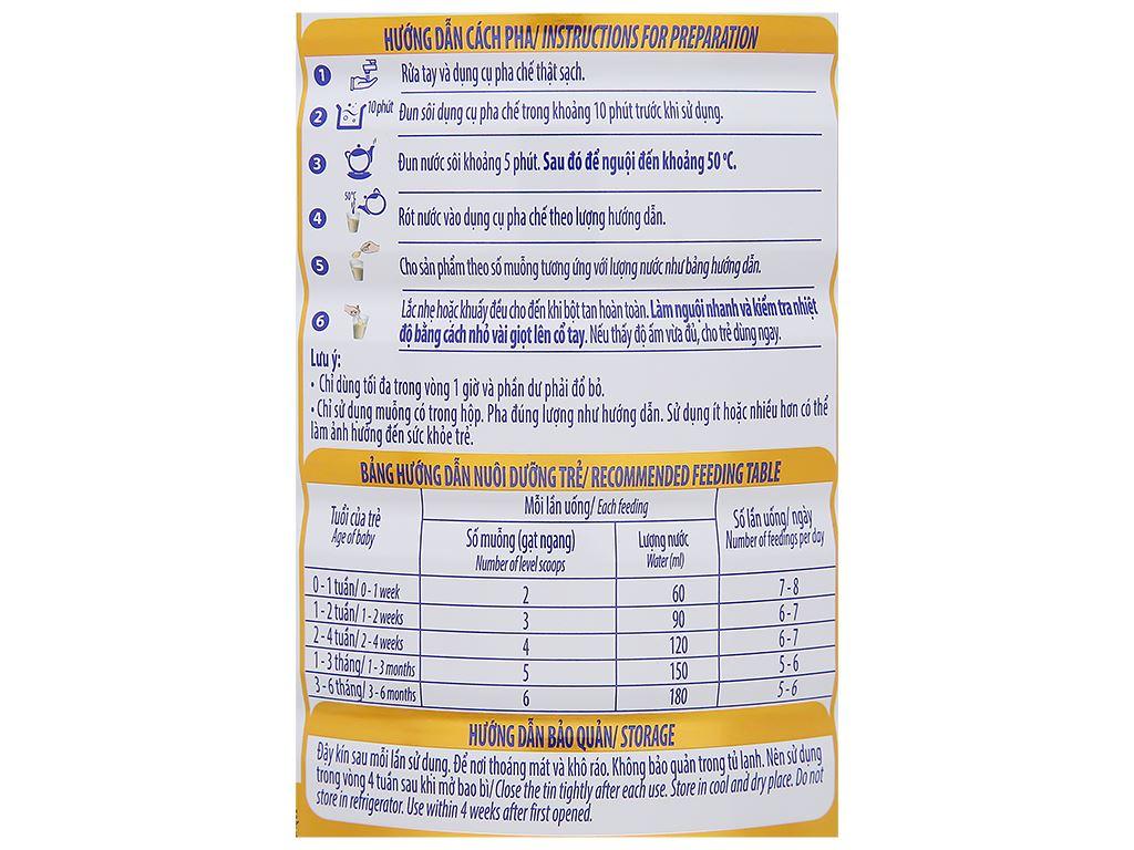 Sữa bột Optimum Gold 1 lon 800g (0 - 6 tháng) 6