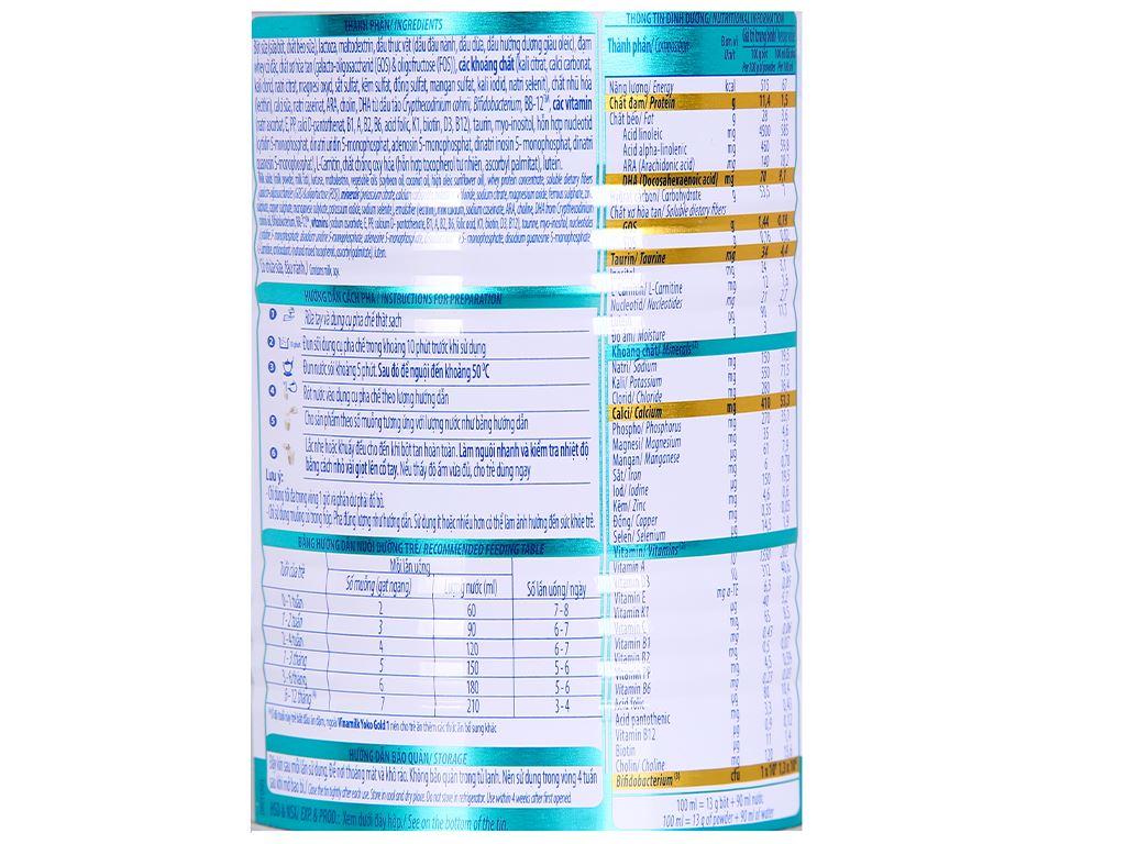 Sữa bột Vinamilk Yoko Gold 1 lon 350g (0 - 12 tháng) 4