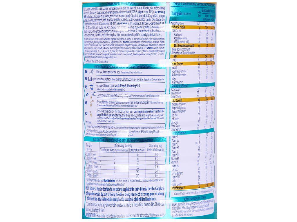 Sữa bột Vinamilk Yoko Gold 1 lon 850g (0 - 12 tháng) 4