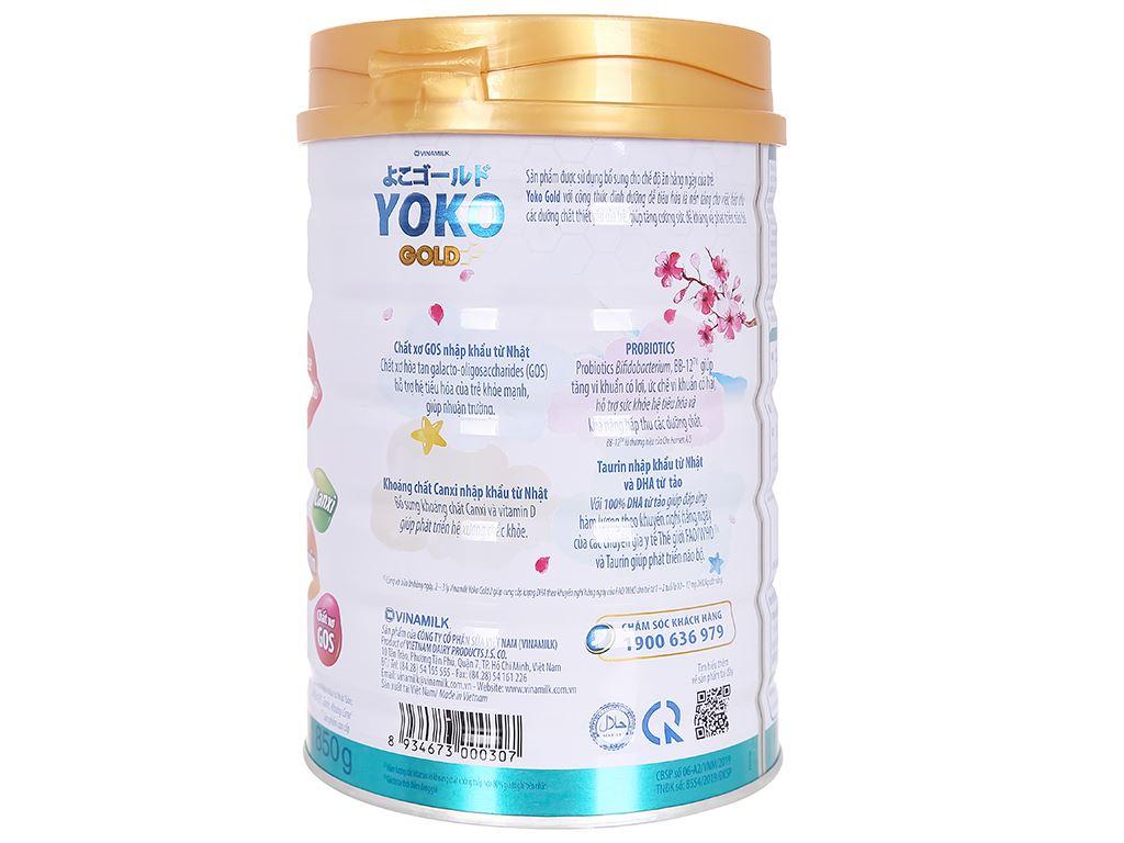 Sữa bột Vinamilk Yoko Gold 2 lon 850g (1 - 2 tuổi) 3