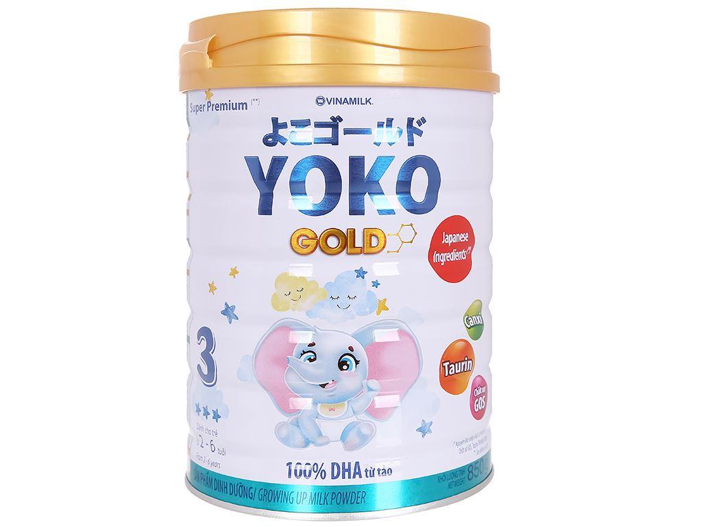 Sữa bột Vinamilk Yoko Gold 3 lon 850g (2 - 6 tuổi) 2