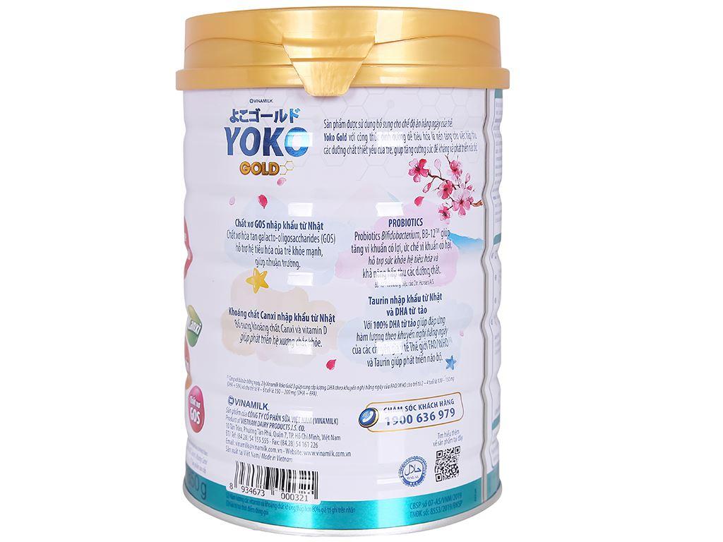 Sữa bột Vinamilk Yoko Gold 3 lon 850g (2 - 6 tuổi) 3