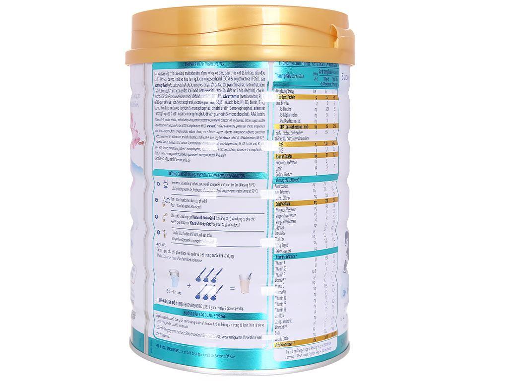 Sữa bột Vinamilk Yoko Gold 3 lon 850g (2 - 6 tuổi) 4