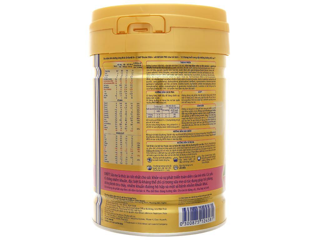Sữa bột Enfamil A+ 2 lon 830g (6 - 12 tháng) 4