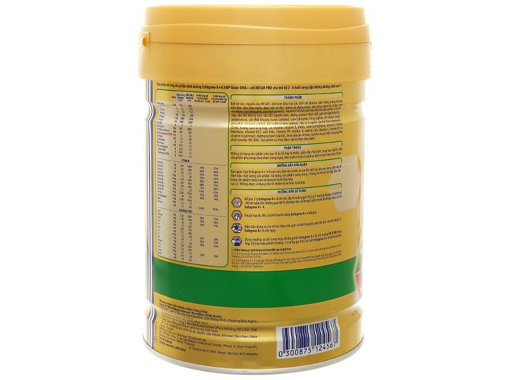 Sữa bột Enfagrow A+ 4 hương vani lon 830g (2 - 6 tuổi) 4