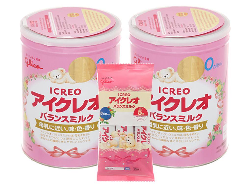 Combo 2 lon sữa bột Glico Icreo số 0 800g (0 - 12 tháng) 1