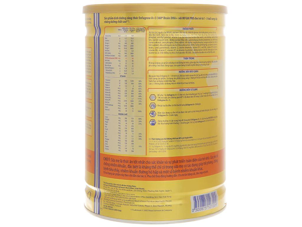 Sữa bột Enfagrow A+ 3 hương vani 1.7kg (1 - 3 tuổi) 2