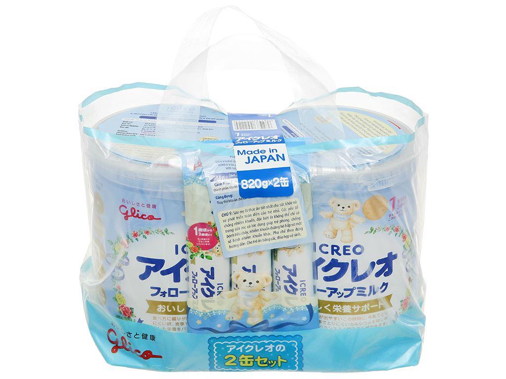Combo 2 lon sữa bột Glico Icreo số 1 820g (9 - 36 tháng) 2