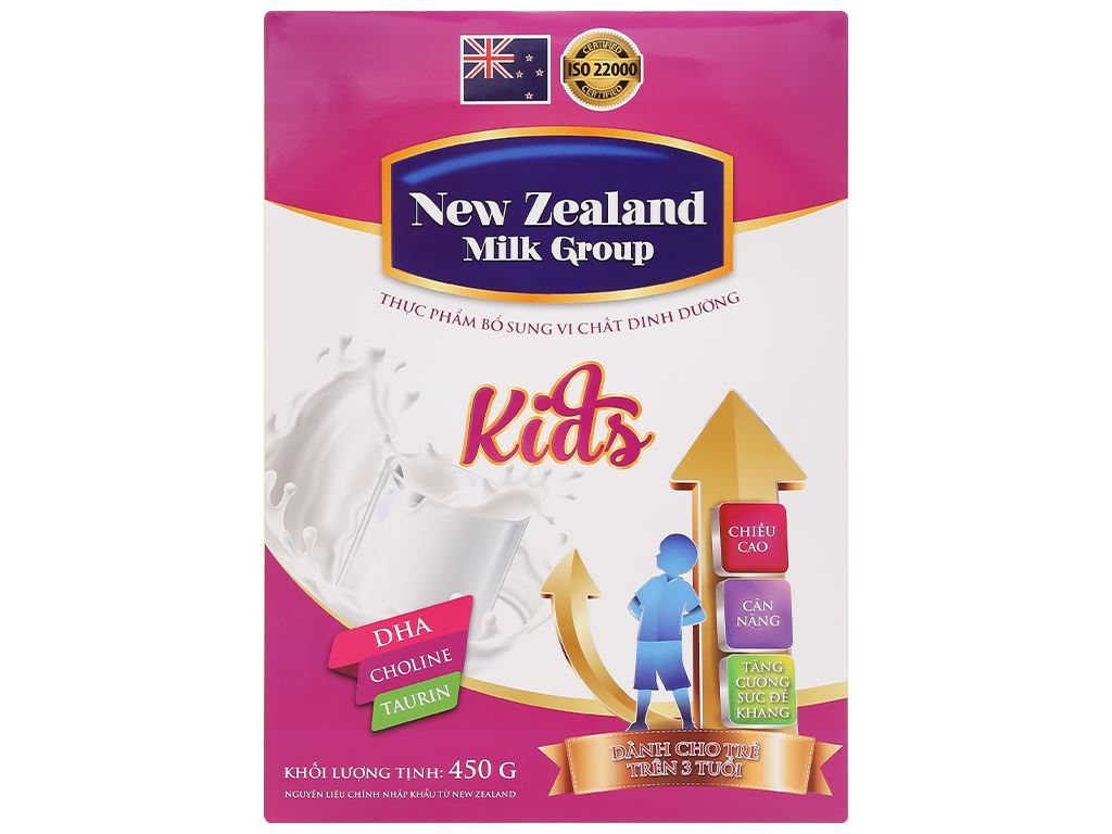 Sữa bột New Zealand Milk Kids hộp 450g (trên 3 tuổi) 1