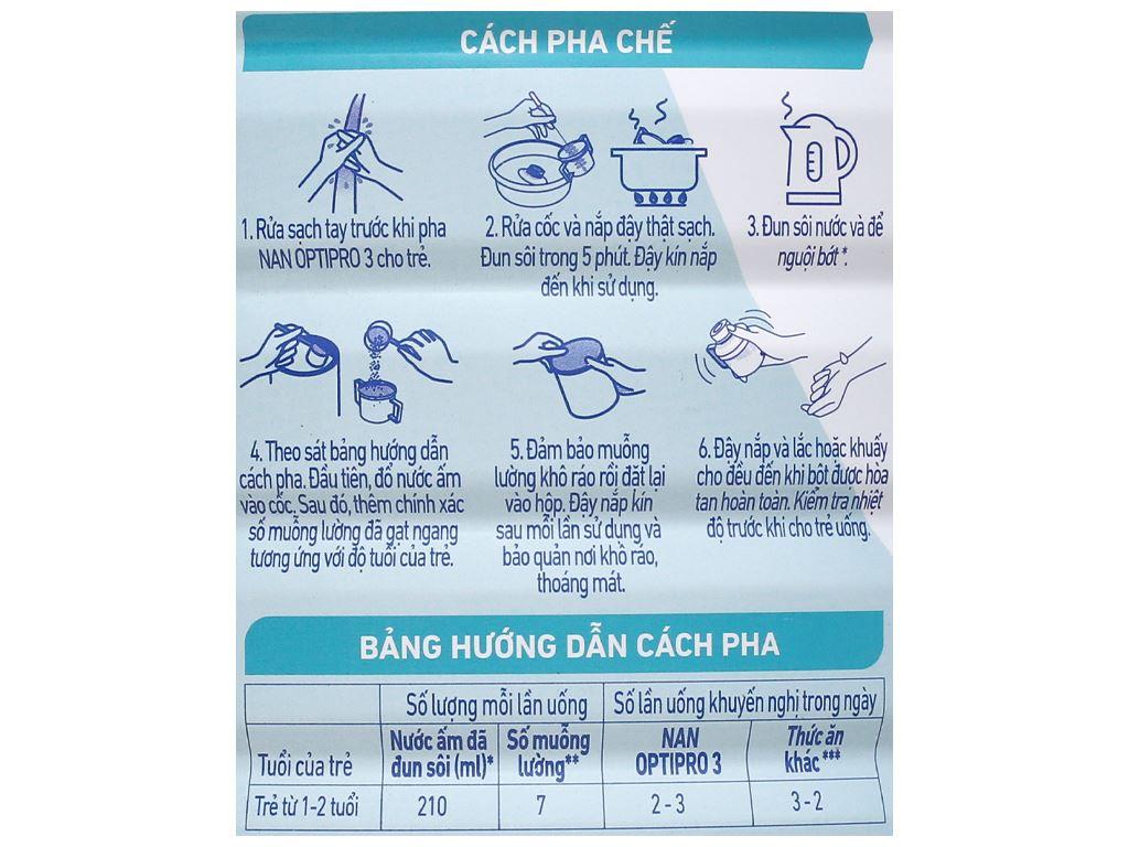 Sữa bột NAN Optipro 3 lon 1.7kg (1 - 2 tuổi) 5