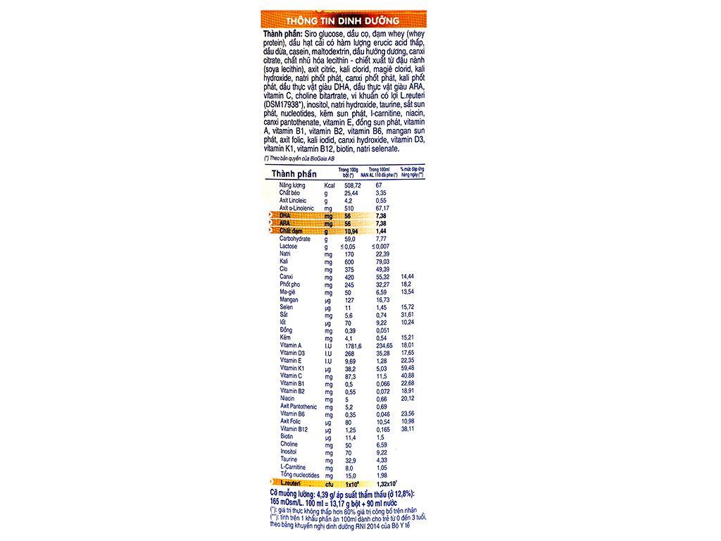 Sữa bột NAN AL 110 lon 400g (0 - 3 tuổi) 5