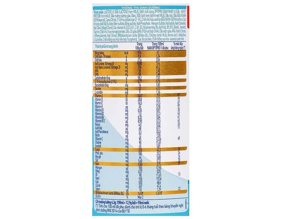 Sữa bột NAN Optipro 1 lon 400g (0 - 6 tháng) 4