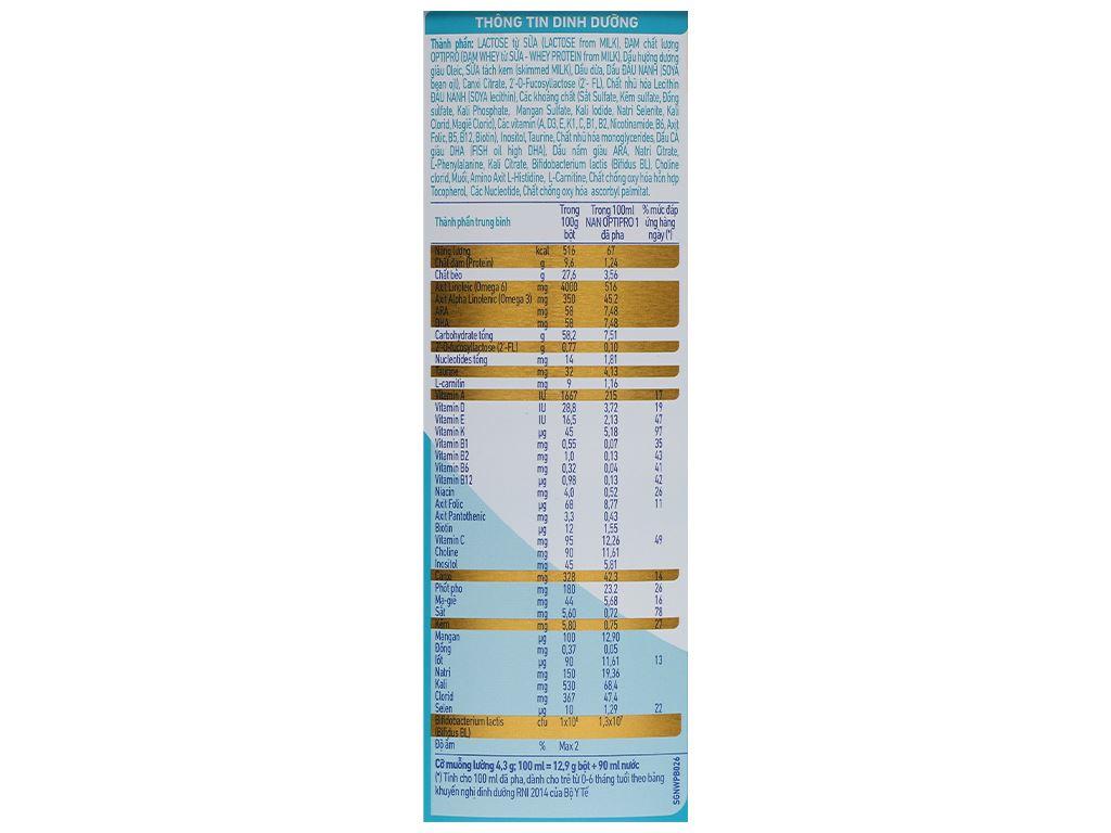 Sữa bột NAN Optipro 1 lon 900g (0 - 6 tháng) 6