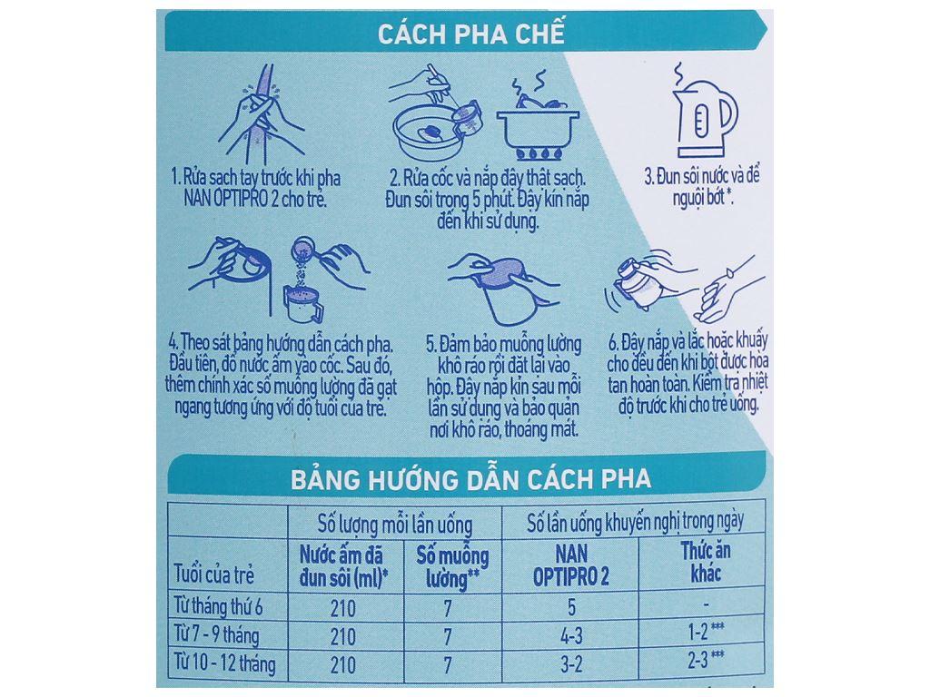 Sữa bột NAN Optipro 2 lon 900g (6 - 12 tháng) 4