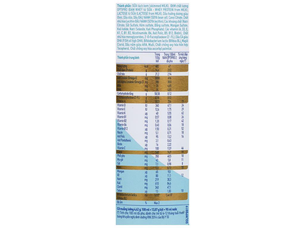 Sữa bột NAN Optipro 2 lon 900g (6 - 12 tháng) 5