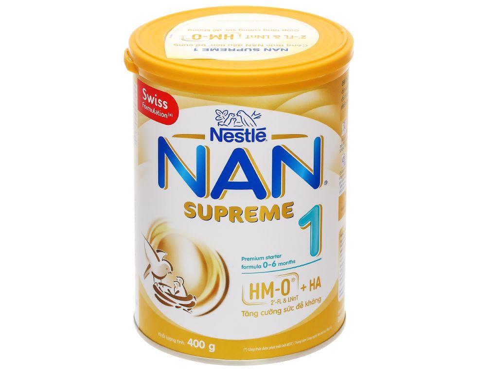 Sữa bột NAN Supreme 1 lon 400g (0 - 6 tháng) 1