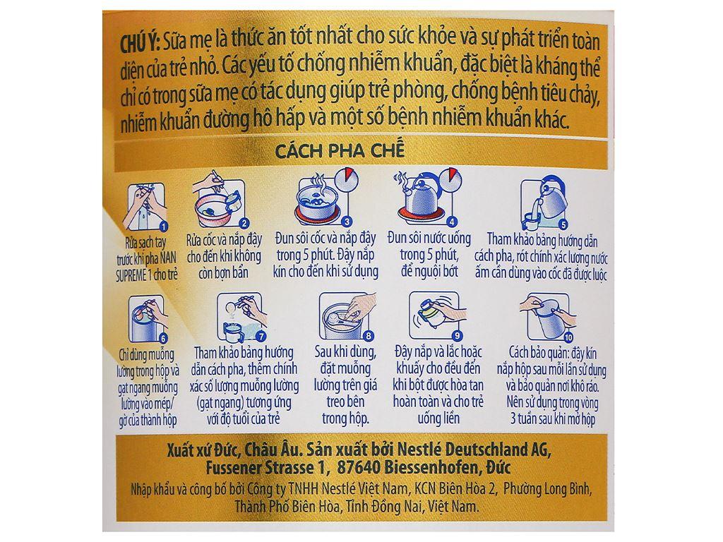 Sữa bột NAN Supreme 1 lon 400g (0 - 6 tháng) 5