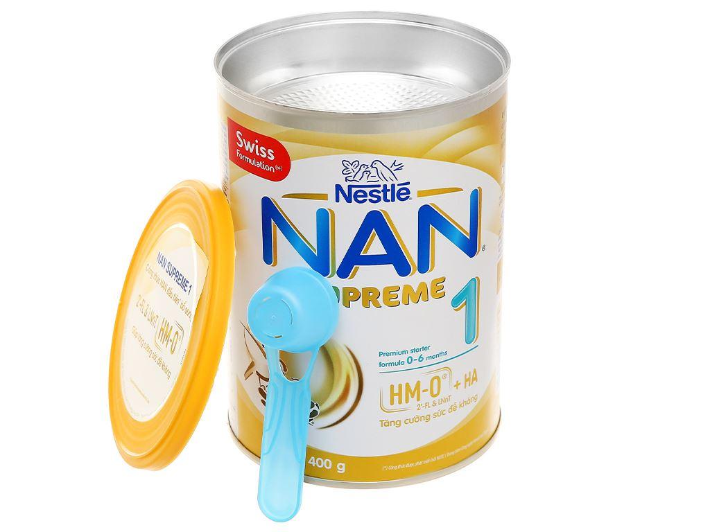 Sữa bột NAN Supreme 1 lon 400g (0 - 6 tháng) 7
