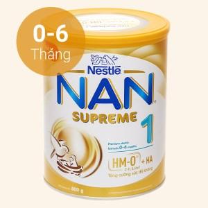 Sữa bột NAN Supreme 1 lon 800g (0 - 6 tháng)