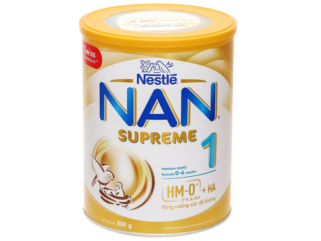 Sữa bột NAN Supreme 1 lon 800g (0 - 6 tháng) 1