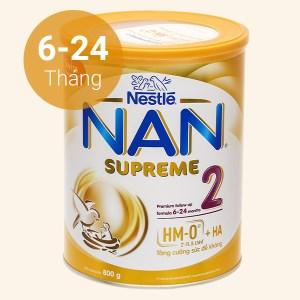 Sữa bột NAN Supreme 2 lon 800g (6 - 24 tháng)