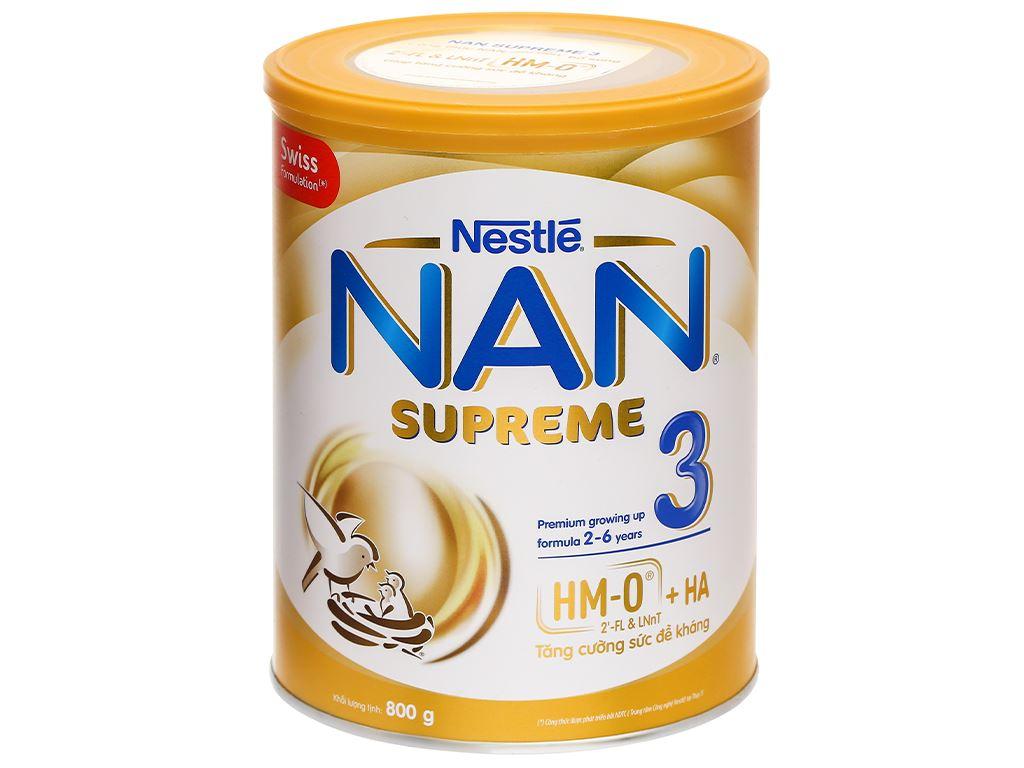 Sữa bột NAN Supreme 3 lon 800g (2 - 6 tuổi) 1