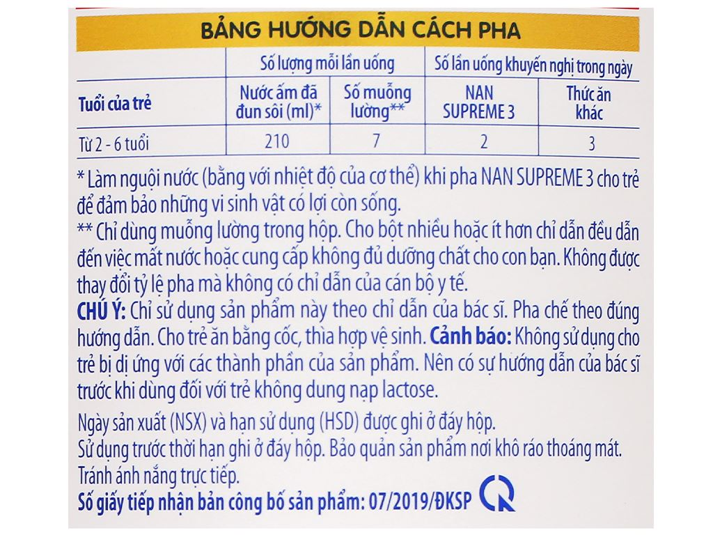 Sữa bột NAN Supreme 3 lon 800g (2 - 6 tuổi) 6