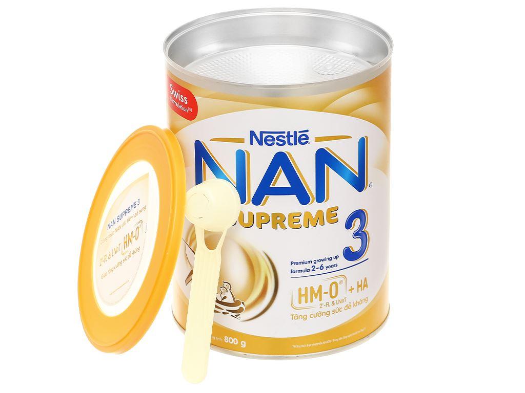 Sữa bột NAN Supreme 3 lon 800g (2 - 6 tuổi) 7