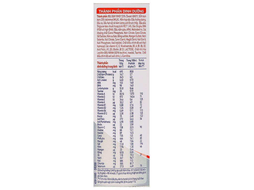 Sữa bột pre NAN lon 400g (dành cho trẻ từ lúc mới sinh) 5
