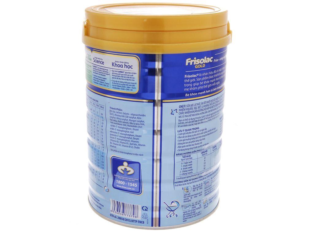 Sữa bột Frisolac Gold 1 lon 900g (0 - 6 tháng) 4