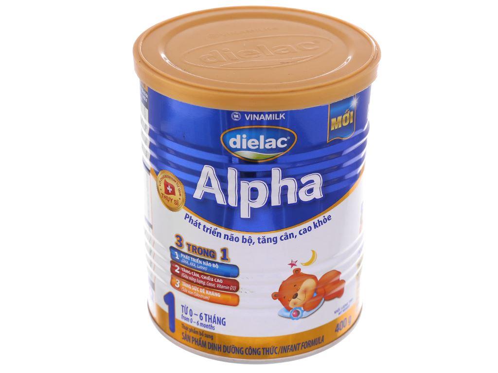 Sữa bột Dielac Alpha 1 lon 400g (0 - 6 tháng) 2