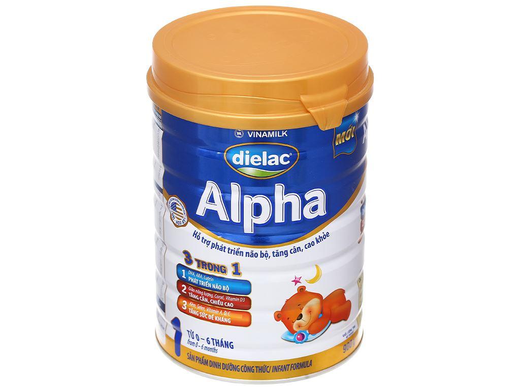 Sữa bột Dielac Alpha 1 lon 900g (0 - 6 tháng) 1