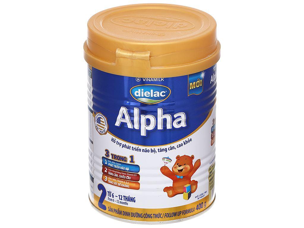 Sữa bột Dielac Alpha 2 lon 400g (6 - 12 tháng) 1