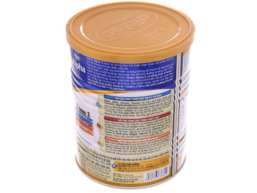 Sữa bột Dielac Alpha 2 lon 400g (6 - 12 tháng) 3