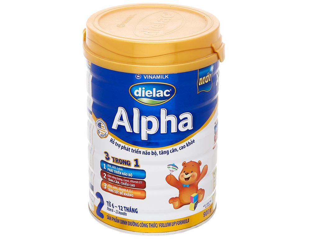 Sữa bột Dielac Alpha 2 lon 900g (6 - 12 tháng) 1