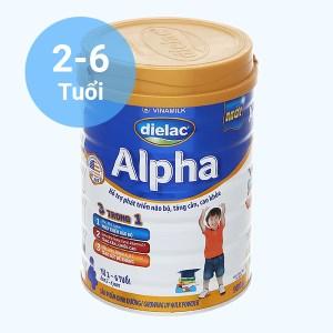 Sữa bột Dielac Alpha 4 lon 900g (2 - 6 tuổi)