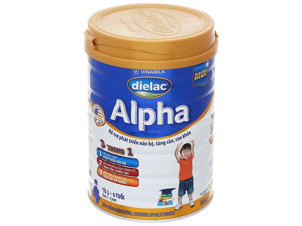 Sữa bột Dielac Alpha 4 lon 900g (2 - 6 tuổi) 1