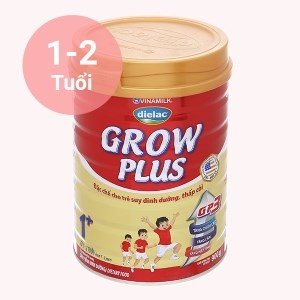 Sữa bột Dielac Grow Plus 1+ đỏ lon 900g (1 - 2 tuổi)