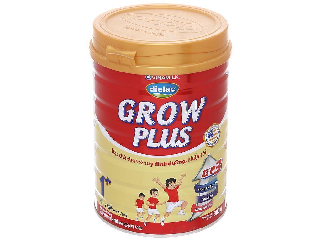 Sữa bột Dielac Grow Plus 1+ đỏ lon 900g (1 - 2 tuổi) 1