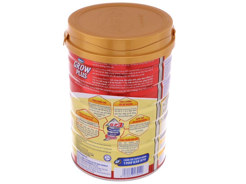 Sữa bột Dielac Grow Plus 2+ đỏ lon 900g (2 - 10 tuổi) 3