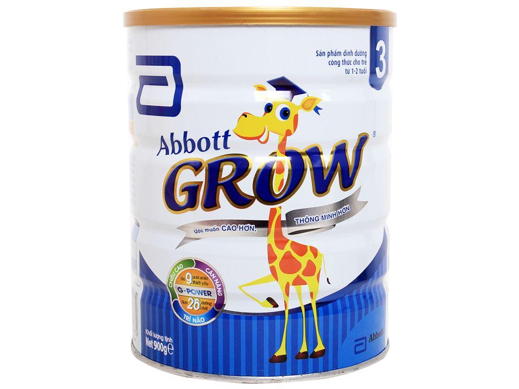 Sữa bột Abbott Grow 3 lon 900g (1 - 2 tuổi) 1