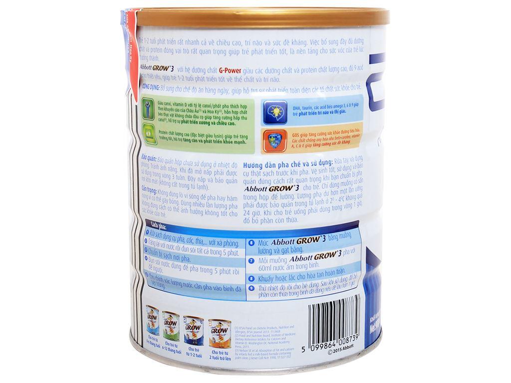 Sữa bột Abbott Grow 3 lon 900g (1 - 2 tuổi) 3