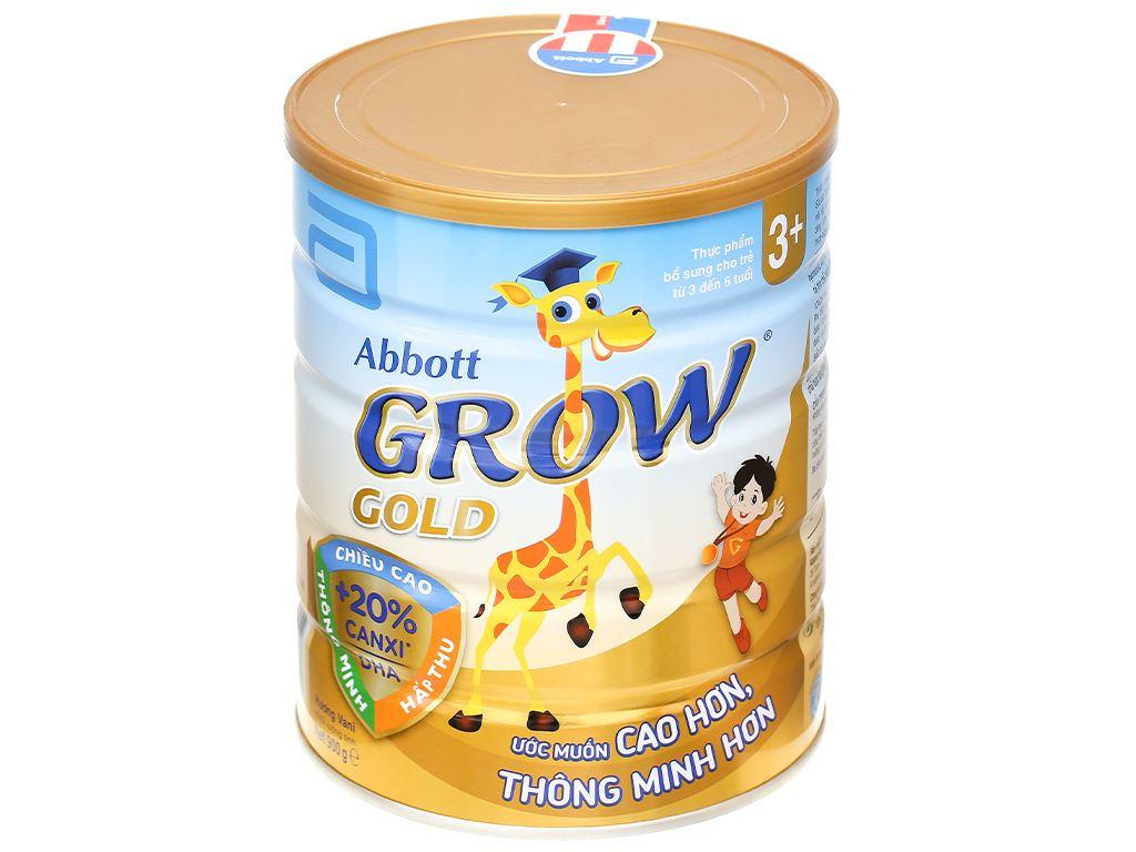 Sữa bột Abbott Grow Grow Gold 3+ hương vani lon 900g (3 - 6 tuổi) 1
