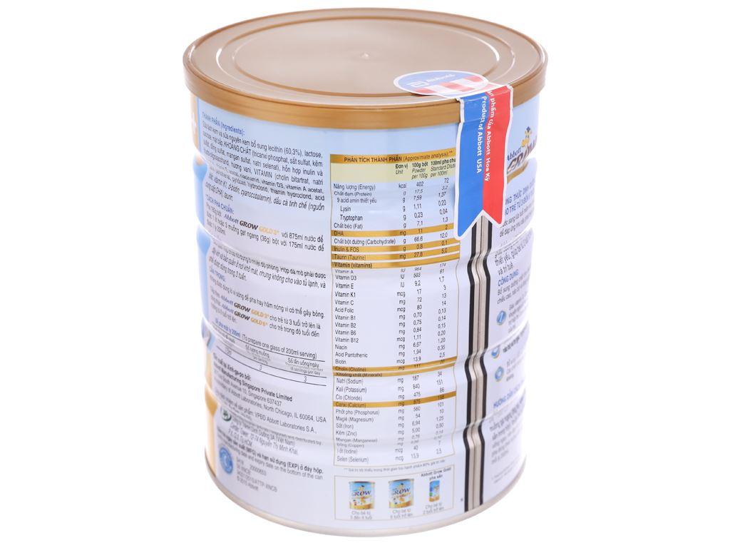 Sữa bột Abbott Grow Grow Gold 3+ hương vani lon 900g (3 - 6 tuổi) 3