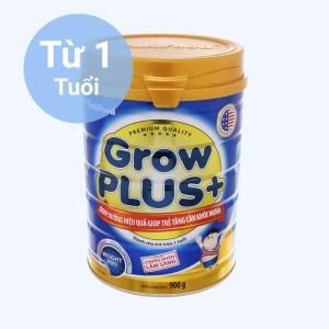 Sữa bột NutiFood Grow Plus+ tăng cân khoẻ mạnh lon 900g (trên 1 tuổi)
