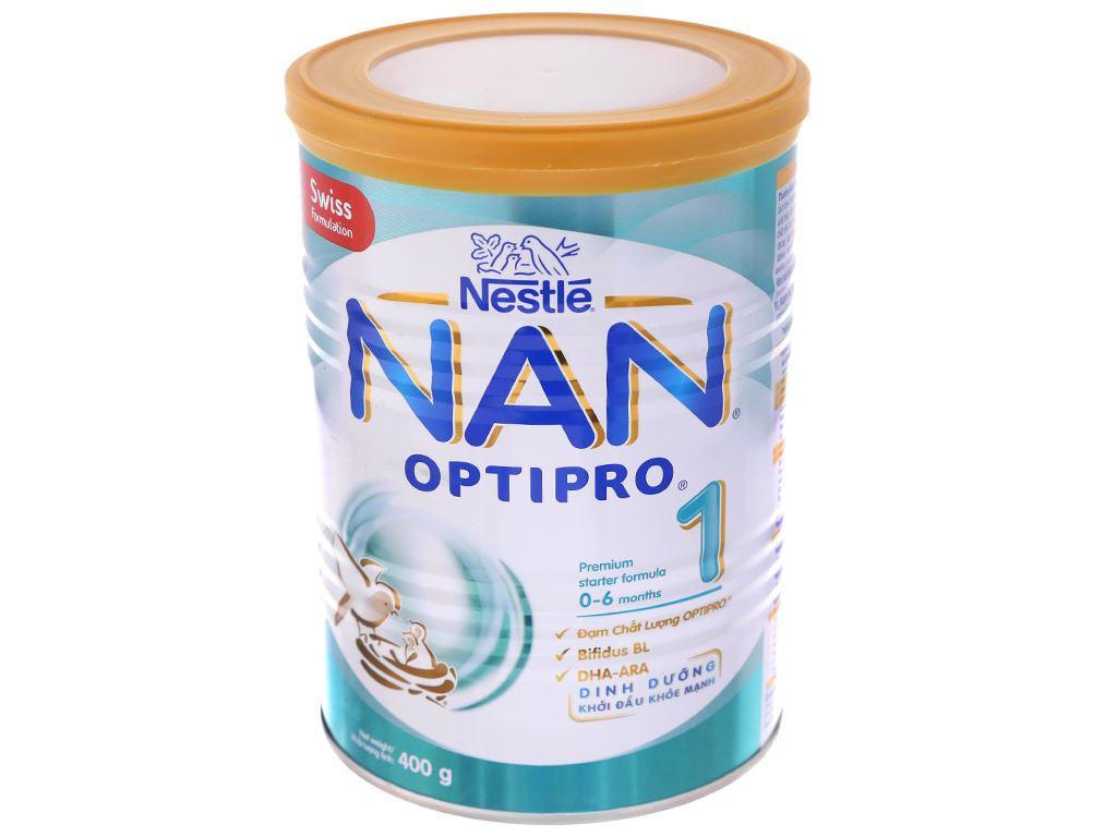 Sữa bột Nestlé NAN Optipro 1 lon 400g (0 - 6 tháng) 2