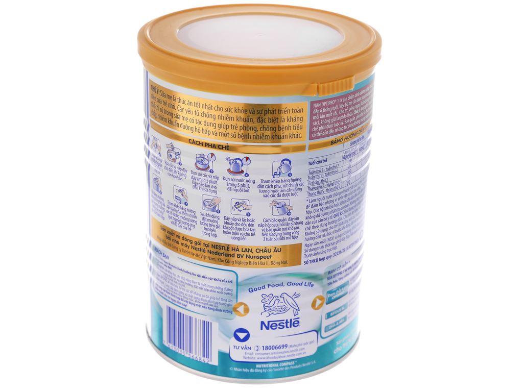Sữa bột Nestlé NAN Optipro 1 lon 400g (0 - 6 tháng) 4