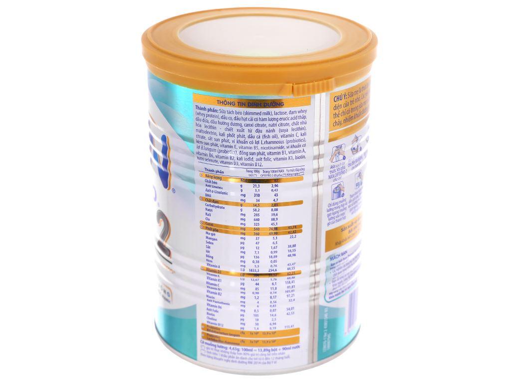 Sữa bột Nestlé NAN Optipro 2 lon 400g (6 - 12 tháng) 3