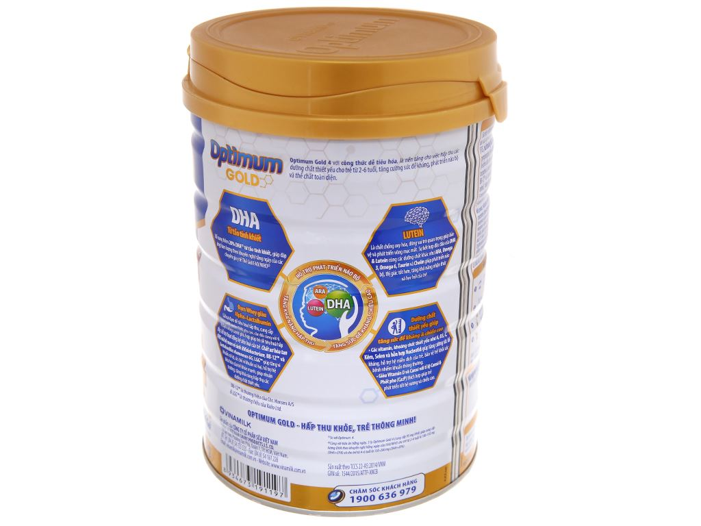Sữa bột Optimum Gold 4 lon 900g (2 - 6 tuổi) 3